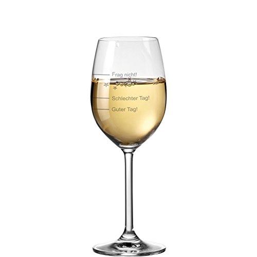 van Hoogen Leonardo Weinglas mit Gravur Guter Tag - Schlechter Tag - Frag Nicht 365ml +...