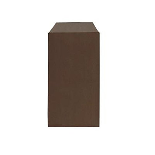 Lotto di 50 buste regalo in carta kraft - Colore: Marrone cioccolato - 12 x 7 cm - Ideale