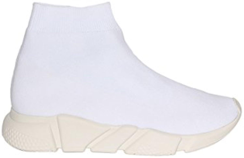 scarpe da da da ginnastica Jeffrey Cambell rossoman bianca Weave Sock | Lussureggiante In Design  7f8789