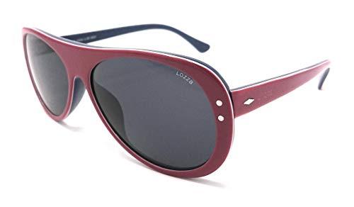 Lozza Sonnenbrille für Damen und Herren SL 1858 Rot und Blau 0AAX PANTOS