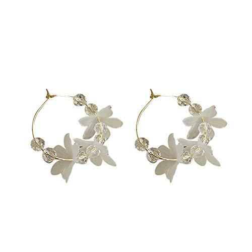 LOVEMLQL Frau Crystal Flower Fashion Ohrringe Ewige BlüTenbläTter Super Fairy Einfache Retro Ins Wind Explosion Ohrringe Kaufen Sie Eine Gratis