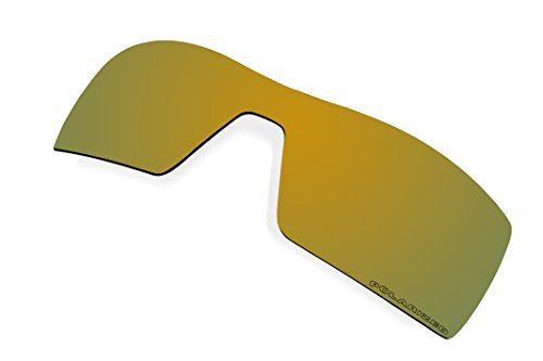 BVANQ Polarized Lenses Replacement for Oakley Oil Rig Sunglasses (Gold Mirror Coatings) by BVANQ