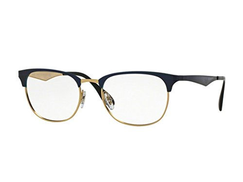 Ray-Ban Unisex-Erwachsene RB6346 Sonnenbrille, TOP Brushed DK Blue ON Gold, 52