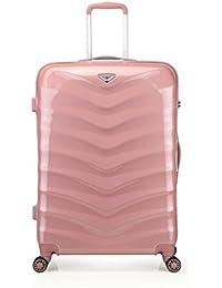 Verage Seagull Hartschalen Koffer Trolley Suitcase Handgepäck Reisekoffer Marken-Qualität Spitzenverarbeitung ABS+Polycarbonat, 4 Rollen, TSA, Rosegold(Rose Gold, Rosa) Grün Schw. Pink, 3 Größe Set
