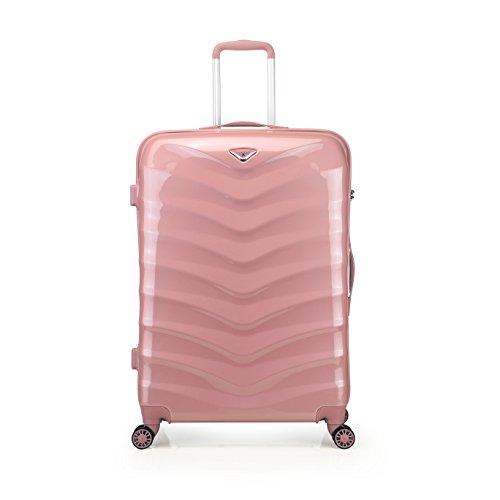 """Verage® Seagull Koffer Rosegold Rose Gold L-71 cm(28"""")75x53x31cm Trolley Suitcase Reisekoffer Marken-Qualitätsware Spitzenverarbeitung ABS+PC,4 Doppelräder 360 Grad,TSA Schlos"""