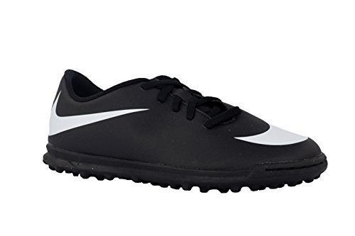 Nike Jr Bravata II Tf Scarpe da Calcetto Indoor Unisex-Adulto, Nero White/Black 001, 38.5 EU