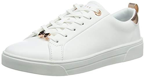 Ted Baker Damen Gielli Sneaker, Weiß White Whte, 36.5 EU White Baker