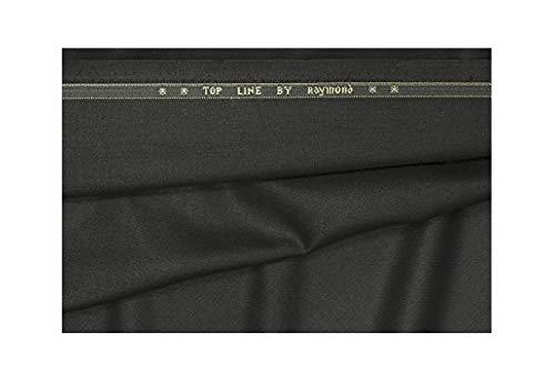 Raymond Men's Poly Cotton Unstitched 1.3 m Trouser Fabric (Black, Free Size)