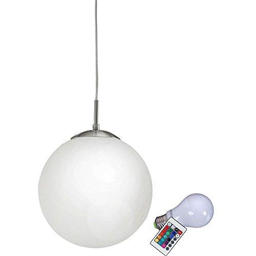 Decke Kugel (Design Pendel Hänge Leuchte Glas Decken Lampe Farbwechsel Dimmer im Set inklusive RGB LED Leuchtmittel)