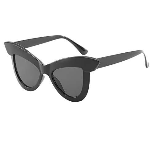 Ginli occhiali sole occhiali da vista montatura grande occhiali da sole vintage cat eye da donna