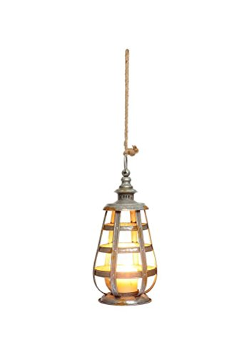 Unbekannt DCC 40,6cm Vintage-Stil verzinktem Metall Aufhängen Kerze Laterne Land-charme-kerze