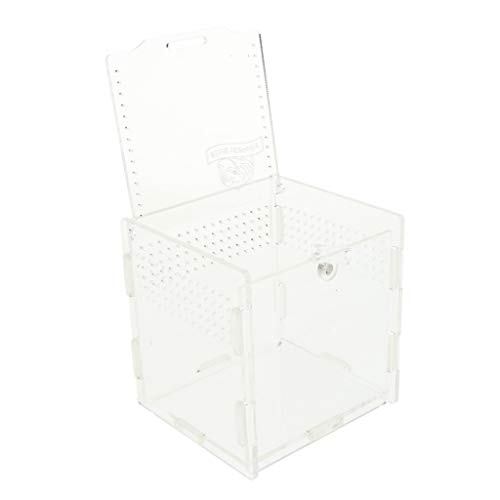 non-brand Homyl Terrarium Transportbox Fütterungsbox für Reptilien Insekten Schildkröten Spinnen - Weiß Typ 1