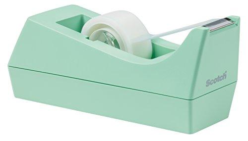 Scotch C38M810 Tischabroller für Klebefilm, inklusiv 1 Rolle, Klebeband, 19 mm x 8.9 m, mint