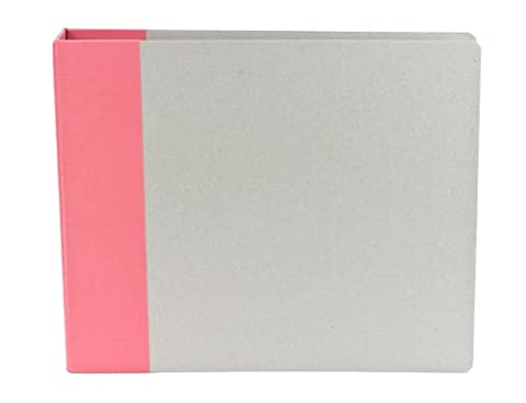 American Crafts 12 x 12-inch Modern D-Ring Album, Raspberry