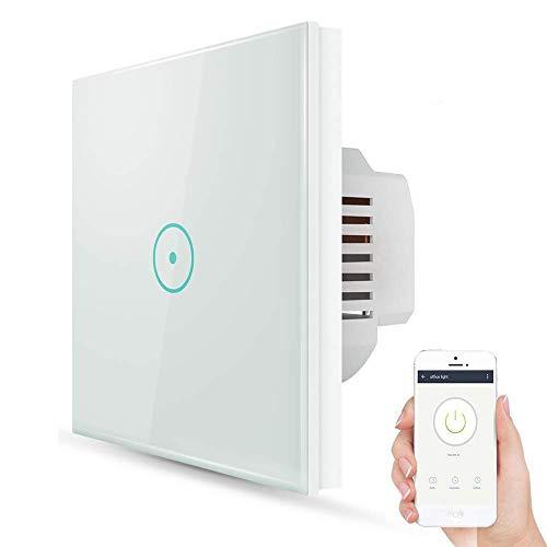 Wifi Interruptor Inteligente 1 Gang, Wireless Echo Interruptor remoto de luz de...