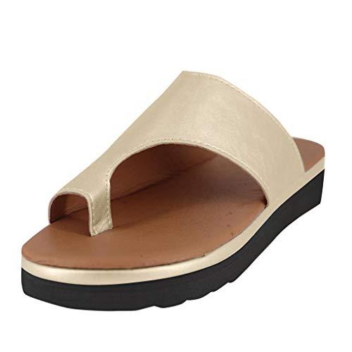 0fb74a8f5 riou 2019 Nuevas Mujeres Cómodas Plataforma Sandalia Zapatos Romanas Verano  Playa Viajes Zapatillas.