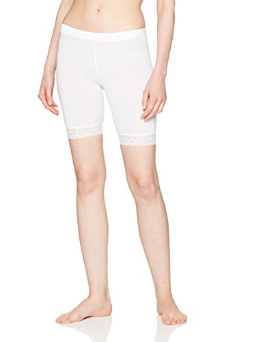 Pieces Edita Shorts W. Lace/Noos, Leggings Femme Blanc (Bright White)