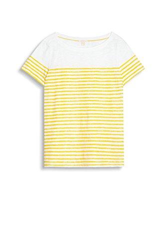 ESPRIT Damen T-Shirt 057ee1k052 Mehrfarbig (Off White 2 111)