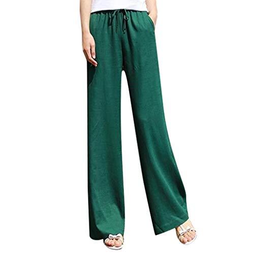 Setsail Damen Reine Farbe Mode Hosen schnüren Sich Oben Enge weites Bein-Hosen-Taschen-einfache Hosen -