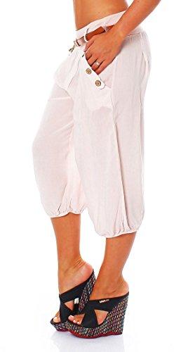 malito Capri-Hose inkl. Gürtel 3/4 Sommerhose 6020 Damen One Size Rosa