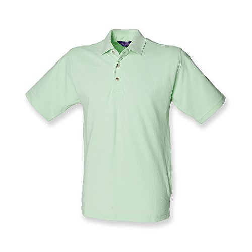 Henbury Men's Classic Heavy Pique Short Sleeve Polo Shirt