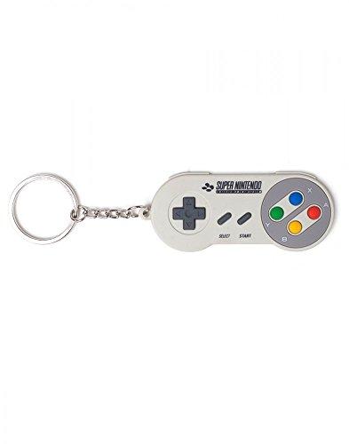 Nintendo - Super Nintendo Controller - Schlüsselanhänger | 100% Gummi | Offizielles Merchandise (Retro-videospiel-t-shirt)
