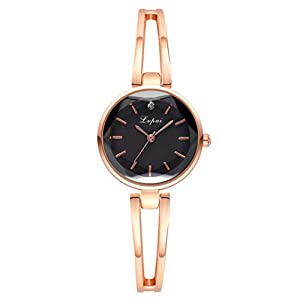 DIKHBJWQ Analoge Quarz-Runde Uhr Intelligente Armbanduhr Analog-Digital Smartwatch Fitness Leder Armband Led-Wecker Automatik Smart Watch Retro Chronograph für Herren Damen