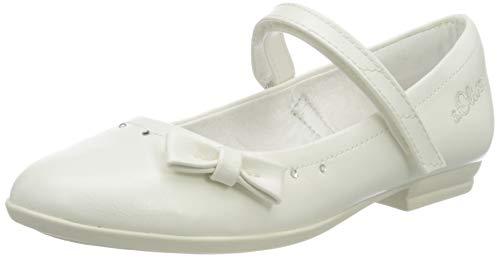 s.Oliver Mädchen 5-5-42800-24 Geschlossene Ballerinas, Weiß (White 100), 34 EU