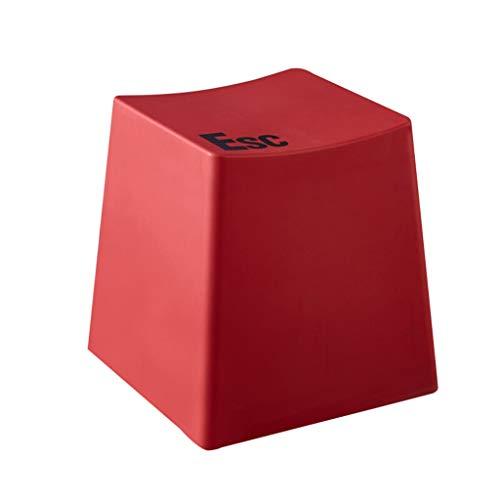 LXQGR Plastikgartenstühle, Plastikstühle, Arbeiten kreativen Tastaturschemel einfachen modernen Toilettenschemelfußschemel-Kaffeetabellenfront-niedrigen Schemelhauptdicken Plastikschemel um