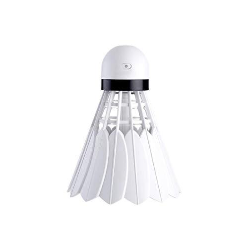 RMXMY Nettes Nachtlicht stummes Luftbett Luftbefeuchter Badminton Minihaus LED Luftverteiler Luftreiniger Zerstäuber tragbarer Student kreativer hydratisierender Haushaltsbefeuchter (Farbe : Weiß)