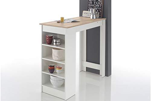 Bartisch Mojito Stehtisch Bistrotisch Tisch Sonoma Eiche/Weiss