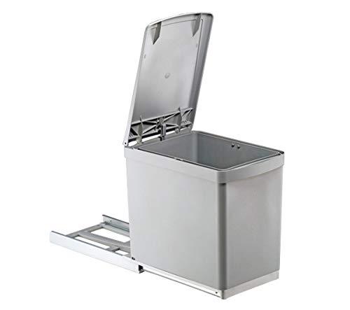 Quellmalz Küche Abfalleimer 1x 16l Hand Handauszug mit automatischem Deckelheber Schrank Breite von 30cm