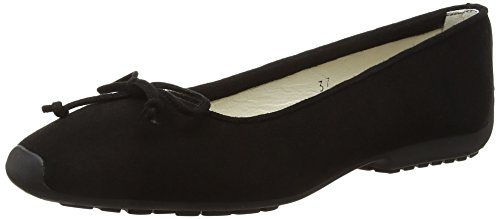 French Sole Gabi Black Nubuck, Ballerine Donna Black (Black)
