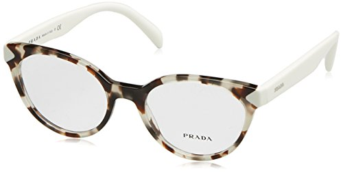 Prada Damen 0PR 01TV Brillengestelle, Spotted Opal Brown, 51