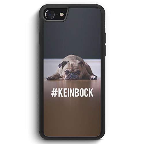 #KeinBock Mops Foto - Silikon Hülle für iPhone 6 / 6s - Motiv Design Hund Tiere Cool Lustig Witzig Süß Schön - Cover Handyhülle Schutzhülle Case Schale - Mops-fotos
