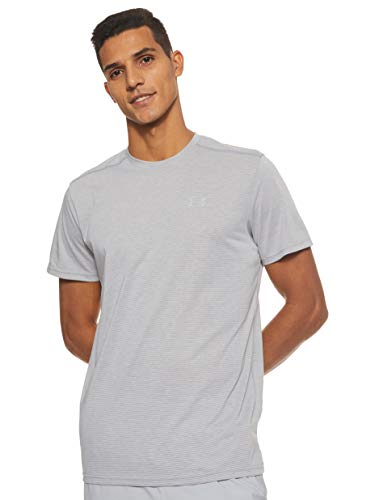 Under Armour Herren Threadborne Streaker SS T-Shirt, Grau (Grey 1271823-038), M