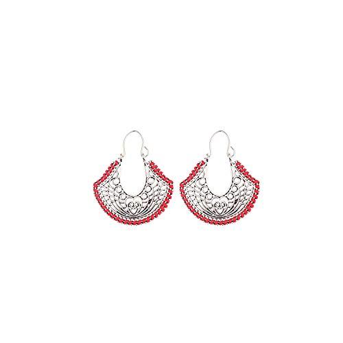 Bowen Jimmy Ethnic Geometric Alloy Dangling Earrings Women Temperament Pendant Earrings,Hxe043-4