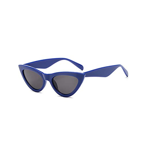 Sportbrillen, Angeln Golfbrille,NEW Cute Sexy Retro Cat Eye Sunglasses Women Black White Triangle Vintage Sun Glasses For Male Female UV400 Blue