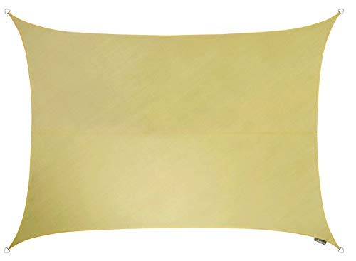 Kookaburra Voile d'Ombrage Rectangle 3,0m x 2,0m Ajouré 185g/m² HDPE Respirant Polyester Protection Solaire Bloque 90% Rayons UV pour Jardin, Terrasse, Balcon (Sable du Désert)