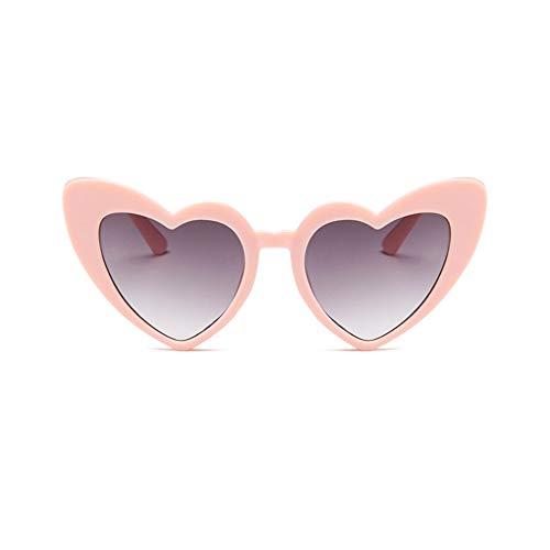 JMT-0825 Mode-Herz-Geformte Sonnenbrille-Frauen-Dame-Weinlese Eyewear Frauen Männer Rosa-Grau