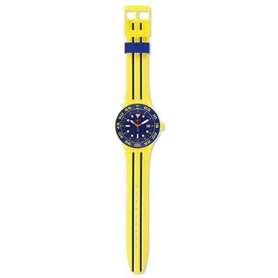 Reloj Swatch SUUJ400 de cuarzo para hombre con correa de silicona, color amarillo de Swatch