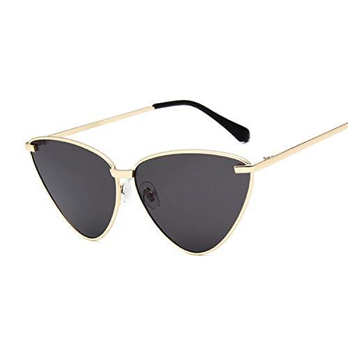 YUHANGH Cat Eye Sonnenbrille Frauen Vintage Rose Gold Lila Spiegel Metall Reflektierende Flache Linse Sonnenbrille Weibliche Oculos