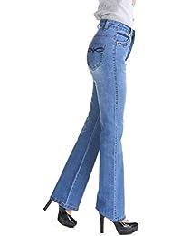 LXIANGP Pantalones de Mujer Pantalones de Campana elástica de Gran tamaño  Pantalones de Cintura Alta para 603f3dc25ac5
