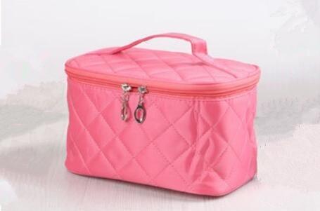 HQYSS Borse donna Carino portatile pieghevole impermeabile ammissione pacchetto trucco caso , medium red rose medium watermelon red