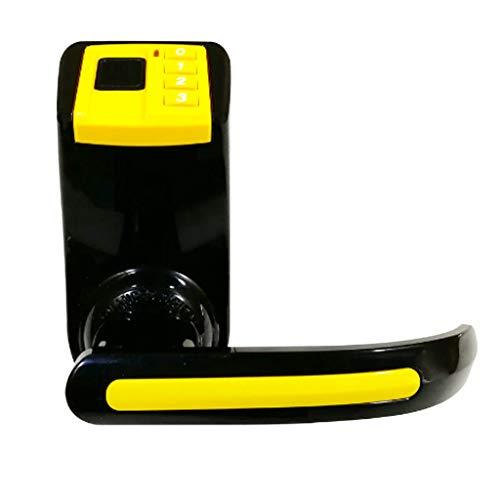 DONGBALA Cierre Inteligente de la Puerta Cerradura de la Huella Digital Contraseña Clave mecánica Tecla antirrobo Fácil de Instalar Sala de reuniones compacta en la Sala de Estar,Yellow