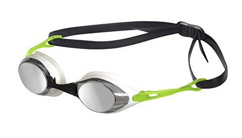 arena Schwimmbrille Cobra Mirror, Smoke/Silver/Green, One Size, 92354
