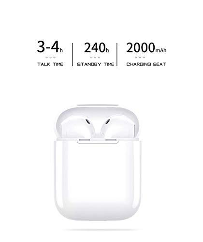 Auriculares Bluetooth,i8x Auriculares Inalámbricos Auriculares Bluetooth 4.1 In Ear Auriculares Auriculares Estéreo In-Ear Micrófono Manos Libres Incorporado para Apple Airpods Android/iPhone