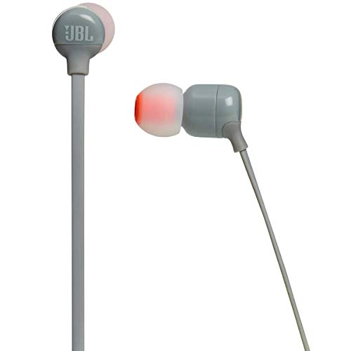 JBL T110BT Pure Bass Wireless in-Ear Headphones with Mic (Grey) Image 3