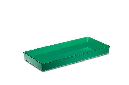 Authentics 1300136 Kali Petite boîte de rangement Transparent/vert 28,5 x 3 x 12 cm