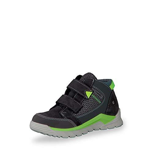 RICOSTA 4730500 490 Jungen Sympatex® Bootie aus Veloursleder mit Textilfutter, Groesse 39, grau/grün